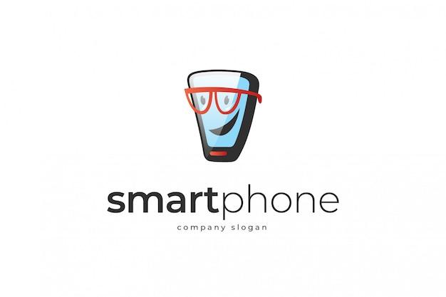 Smartphone-logo-vorlage Premium Vektoren