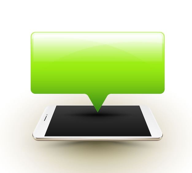 Smartphone mit banner pop-up Premium Vektoren