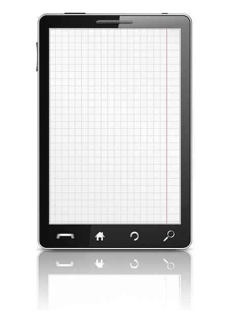 Smartphone mit paperon auf dem bildschirm Premium Vektoren