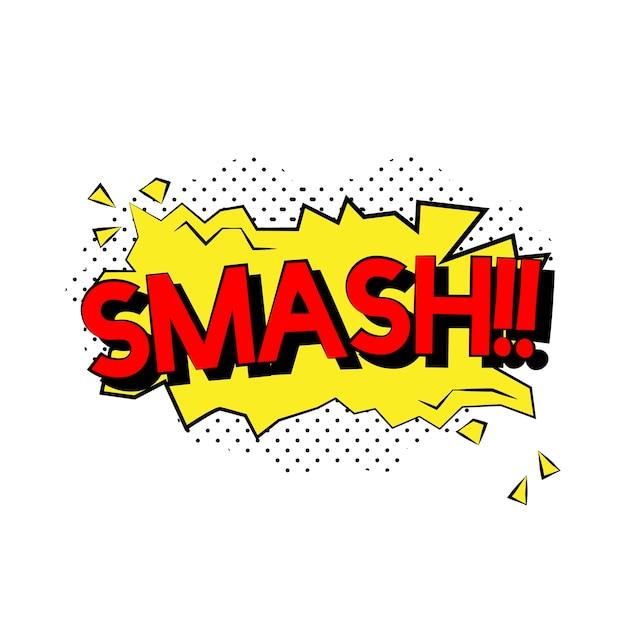 Smash comic-stil Kostenlosen Vektoren