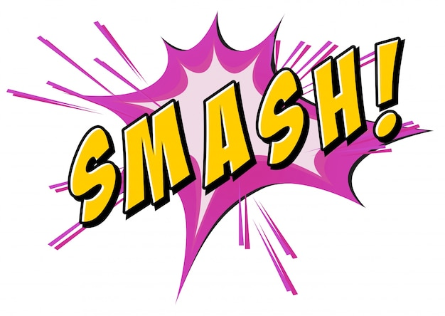 Smash flash auf weiß Kostenlosen Vektoren
