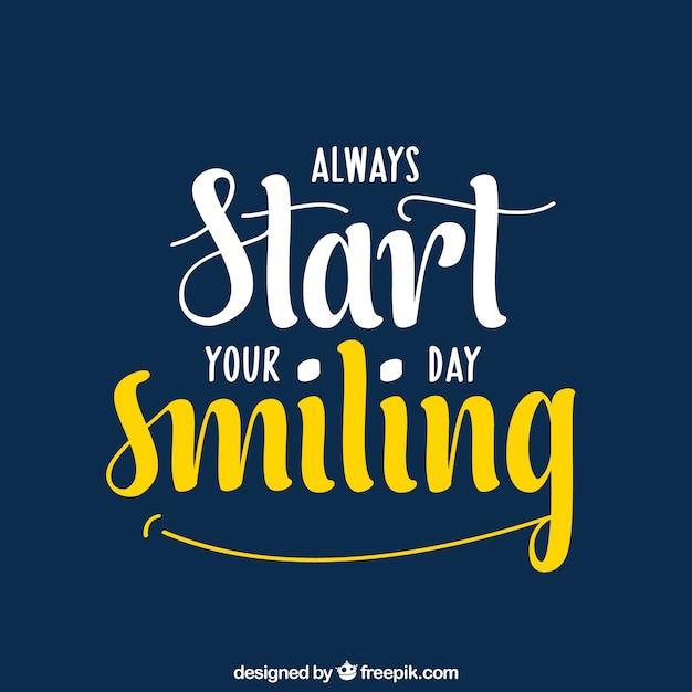 Smile zitat hintergrund Kostenlosen Vektoren