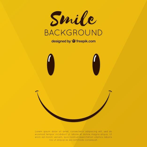 Smiley-hintergrund im flachen design Kostenlosen Vektoren