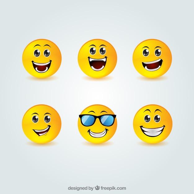 Smiley-sammlung Kostenlosen Vektoren