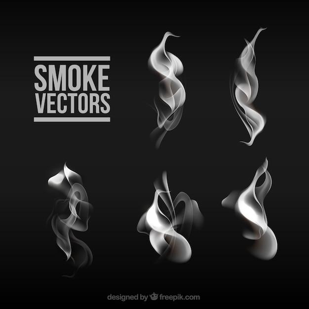Smoke sammlung Premium Vektoren