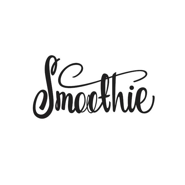 Smoothie-briefgestaltung Premium Vektoren