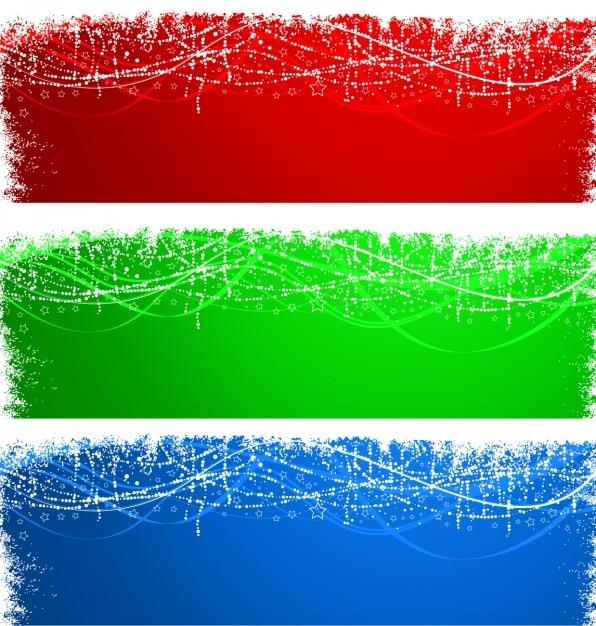 Snowy farbige Banner in Grunge-Stil Kostenlose Vektoren