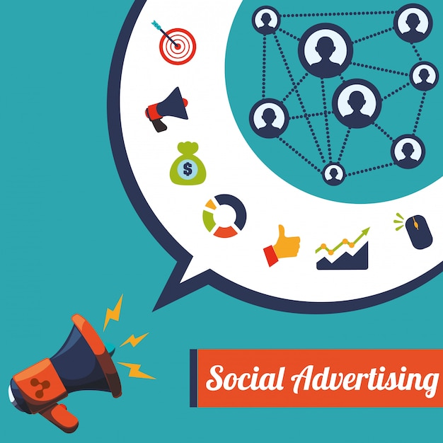 Social advertising und digital marketing design Premium Vektoren