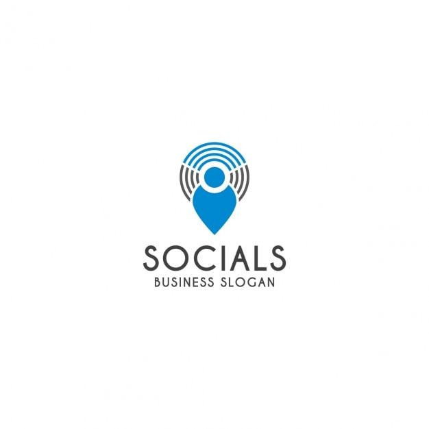 Social logo-vorlage Kostenlosen Vektoren