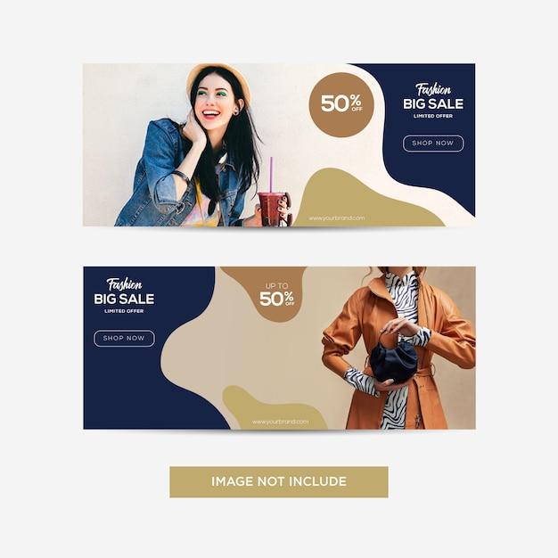 Social media-banner Premium Vektoren