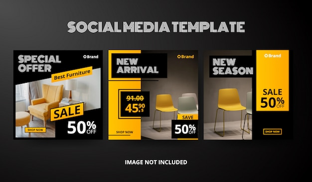Social-media-beitragsvorlagensammlung Premium Vektoren