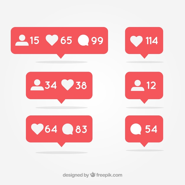 Social media benachrichtigung Kostenlosen Vektoren