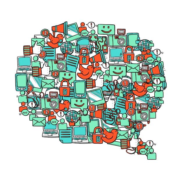 Social media-blase Kostenlosen Vektoren