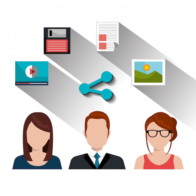 Social-media-darstellung Kostenlosen Vektoren