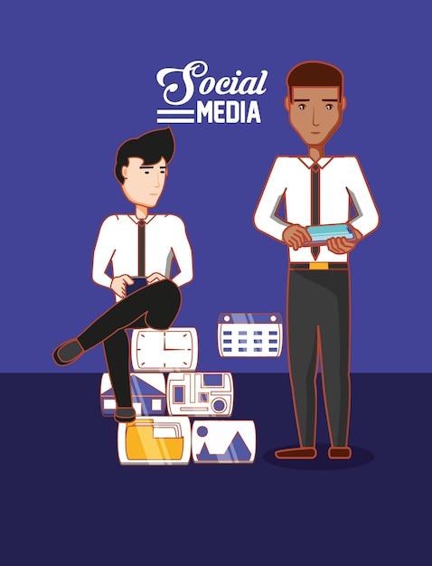 Social-media-design Premium Vektoren
