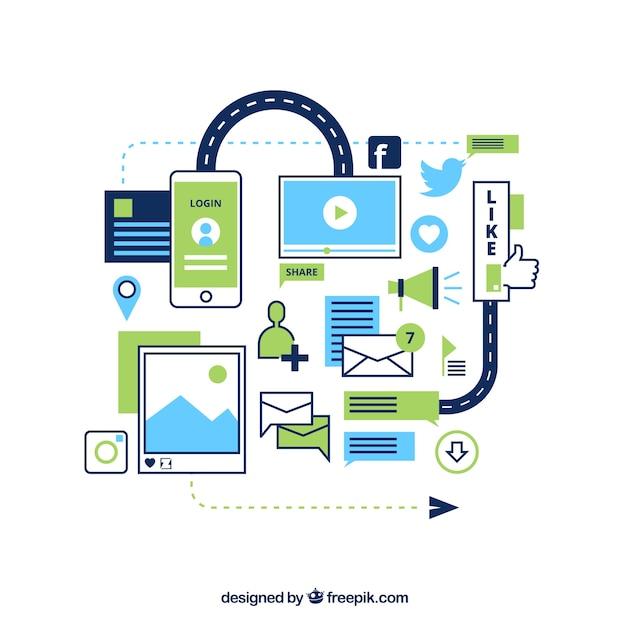 Social-Media-Diagramm   Download der kostenlosen Vektor