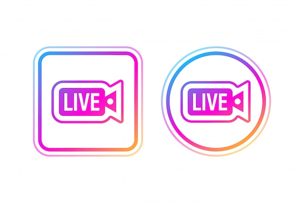 Social media icon avatar rahmen. live-storys user video streaming. illustration. Premium Vektoren
