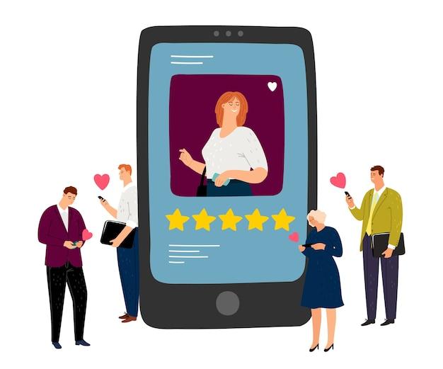 Social media konzept. Premium Vektoren