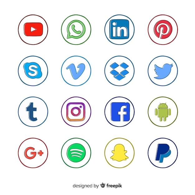 Social-media-logo collectio Kostenlosen Vektoren