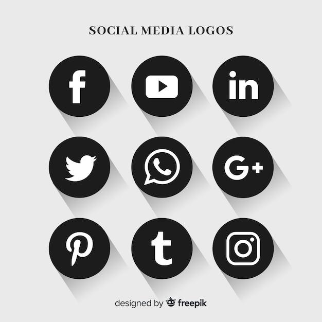 Social media-logo-sammlung Kostenlosen Vektoren