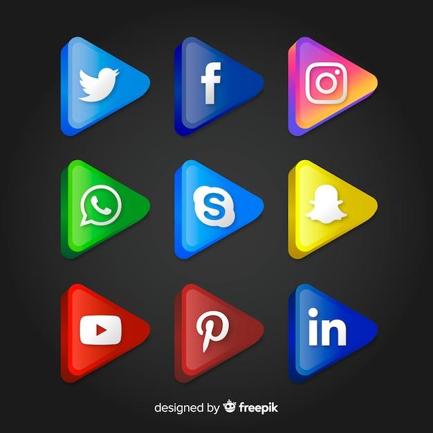 Social-media-logo-sammlung Kostenlosen Vektoren