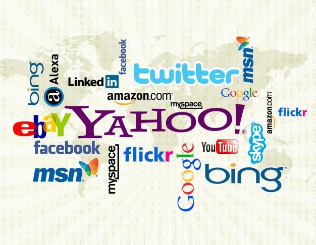 Social media logo wordcloud Premium Vektoren