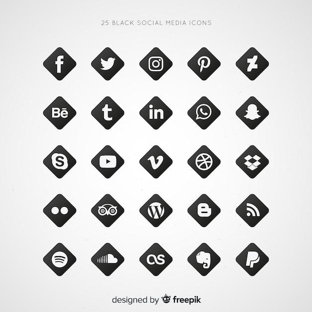 Social media-logosammlung Kostenlosen Vektoren