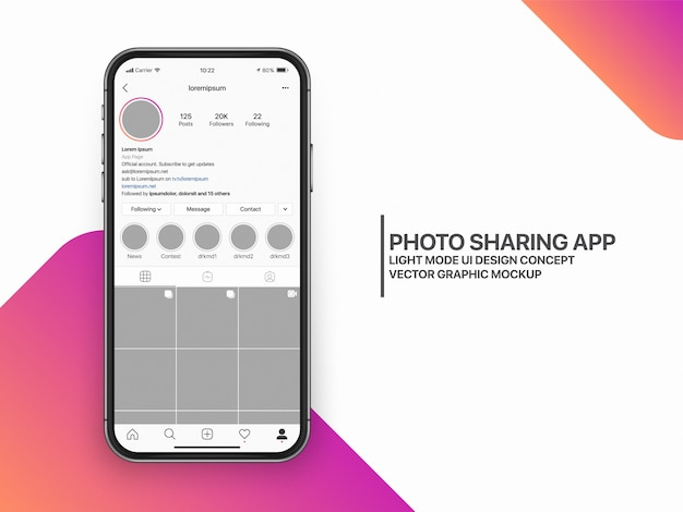 Social media mockup ui ux-vorlagenlayout Premium Vektoren