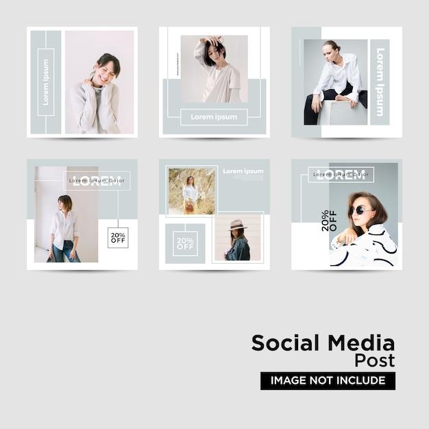 Social media-post-vorlagen-sammlung Premium Vektoren