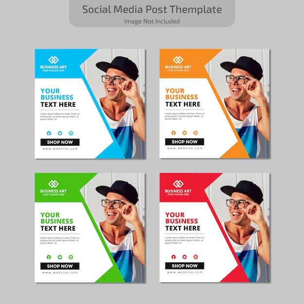 Social media post Premium Vektoren