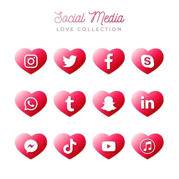 Social media sammlung Kostenlosen Vektoren