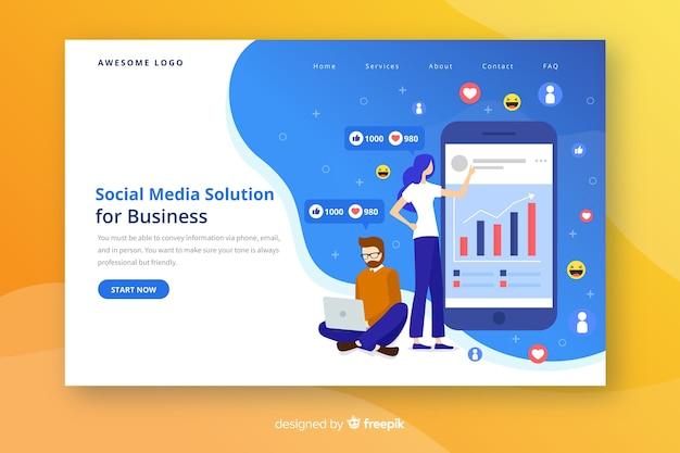 Social media-startseite Kostenlosen Vektoren
