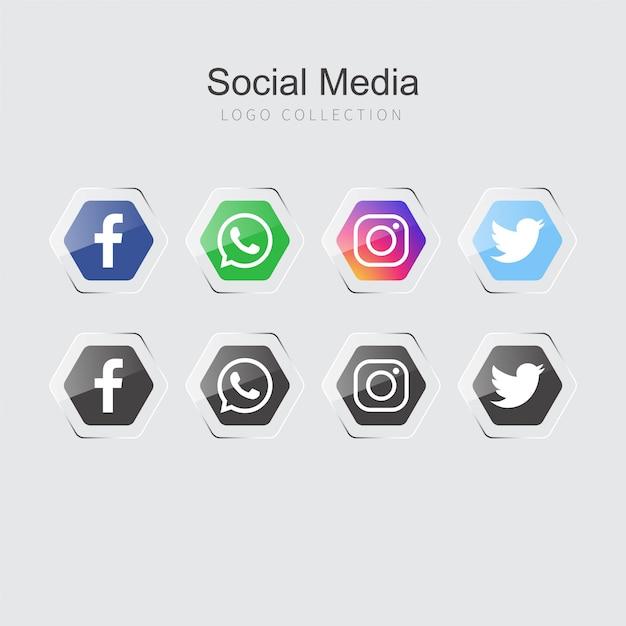 Social media-symbole Kostenlosen Vektoren