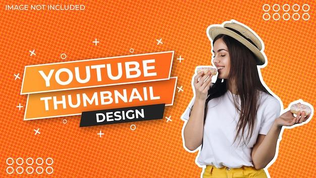Social media thumbnail design mit abstraktem hintergrundmuster Premium Vektoren
