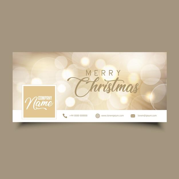 Social Media-Timeline-Cover mit Weihnachtsdesign Kostenlose Vektoren