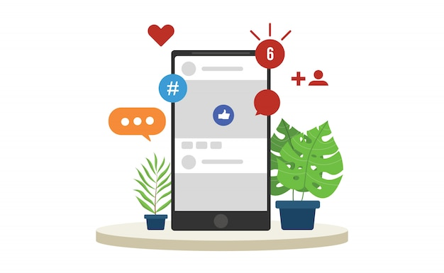 Social media-vernetzung Premium Vektoren