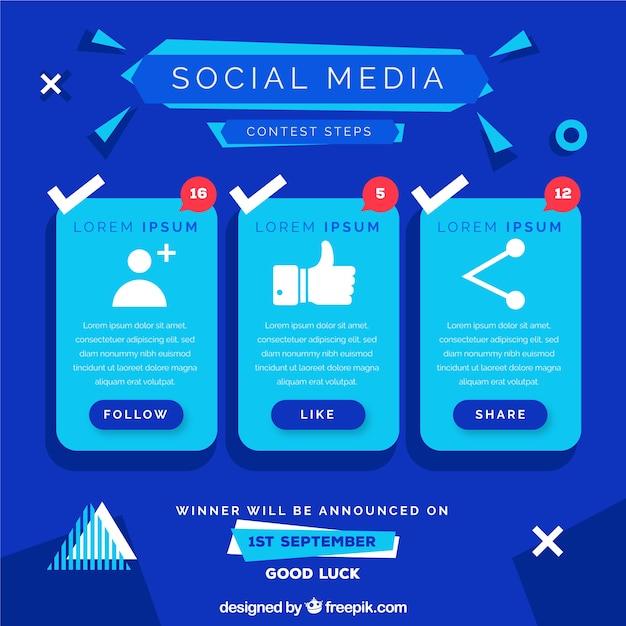 Social-media-wettbewerb design Kostenlosen Vektoren