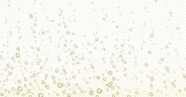 Soda blasen, champagner, wasser oder sauerstoff luft sprudeln Kostenlosen Vektoren