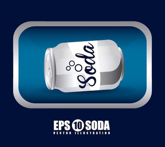 Soda einfaches element Kostenlosen Vektoren
