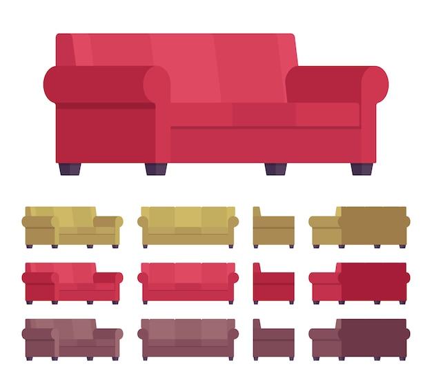 Sofamöbel gesetzt Premium Vektoren