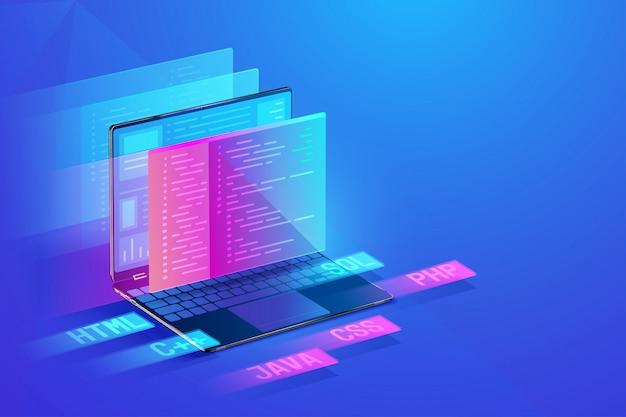 Softwareentwicklung abbildung Premium Vektoren