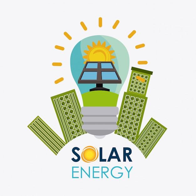 Solarenergie-design. Premium Vektoren