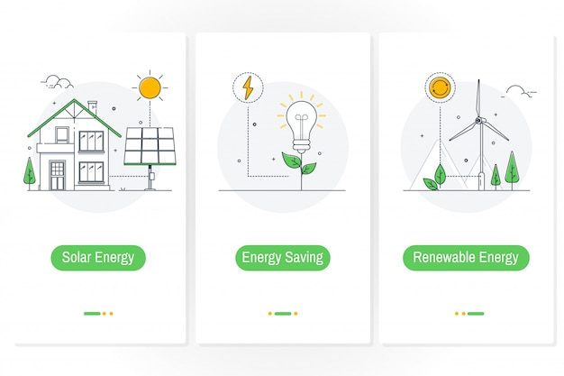 Solarenergie Premium Vektoren