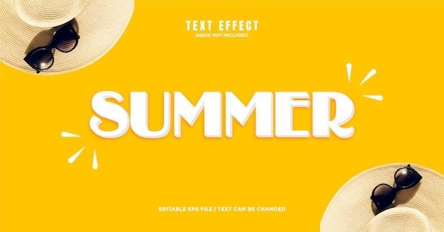 Sommer 3d-texteffekt Premium Vektoren