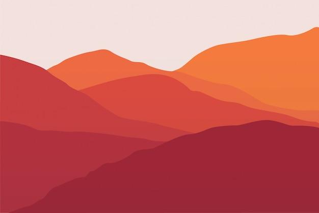 Sommer berglandschaft Premium Vektoren