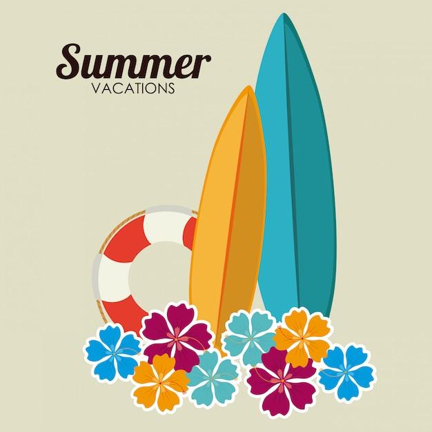 Sommer design Premium Vektoren
