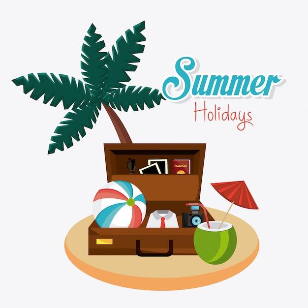 Sommer design. Kostenlosen Vektoren