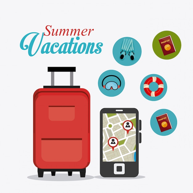 Sommer design Kostenlosen Vektoren