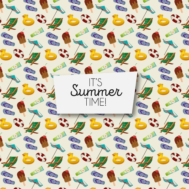 Sommer-element-muster Kostenlosen Vektoren