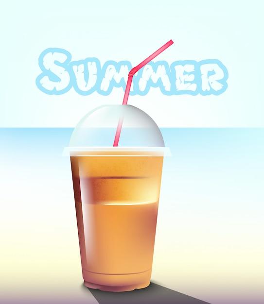 Sommer frappé am meer Premium Vektoren